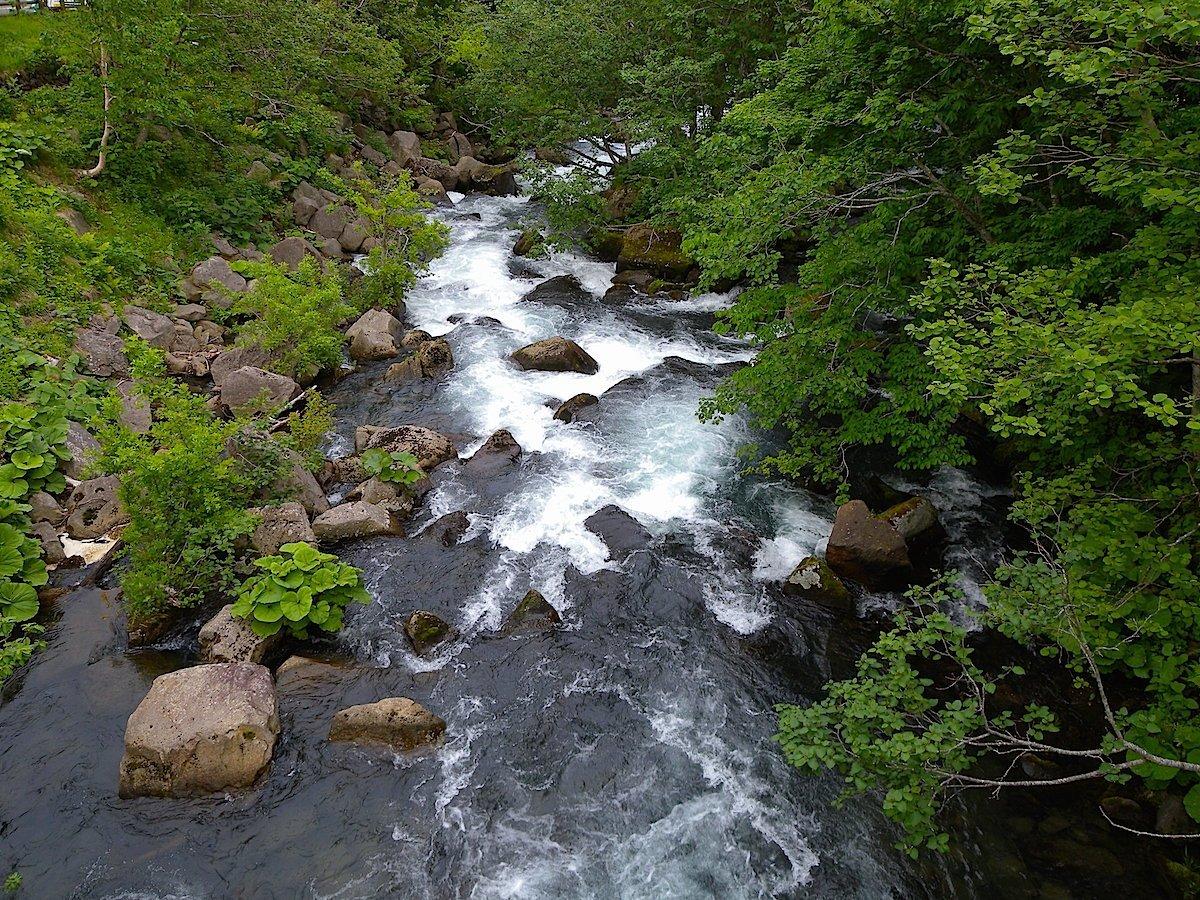 熊の湯露天風呂・羅臼川
