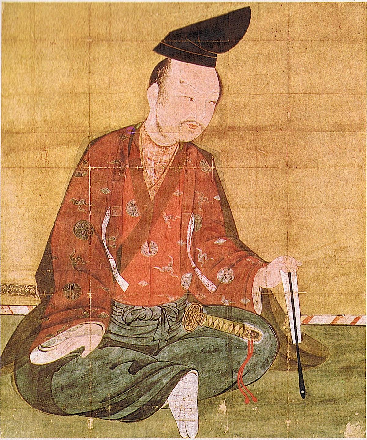 『義経記』で藤原泰衡に襲撃された場面が描かれた義経の画(中尊寺所蔵)