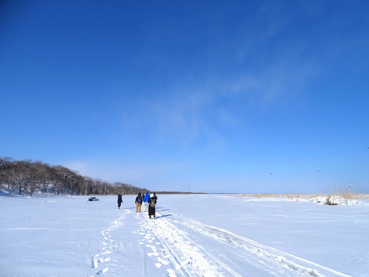 氷下待網漁
