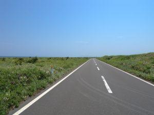 エサヌカ直線道路(猿払村道浜猿払エサヌカ線)