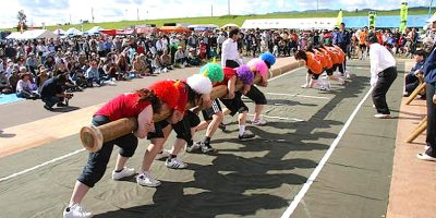 第28回北海道丸太押し相撲大会・第34回なかがわ秋味まつり(中川町)
