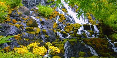 オンネトー湯の滝
