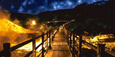 登別温泉で『鬼火の路 幻想と神秘の谷』